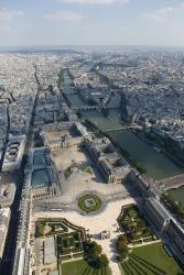 Le jardin des Tuileries et le Louvre