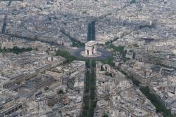 La place de l'Etoile et l'Arc de Triomphe