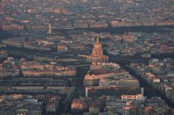 Coucher de soleil sur Paris, le dôme des Invalides