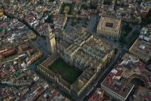 La cathédrale de Séville et la tour de la Giralda
