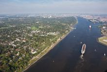 L'Elbe près de Hambourg