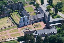 les ruines de l'Abbaye d'Aulne