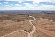 route déserte au coeur du Rio Negro