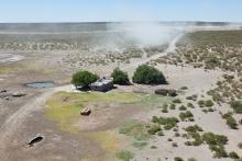 ferme isolée dans la région de la Pampa