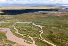 méandres de rivière et Nihuil