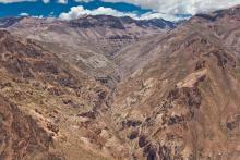 canyon dans la cordillère