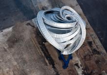 Le Bandshell du sculpteur américain Frank Stella