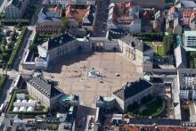 la place et les palais d'Amalienborg