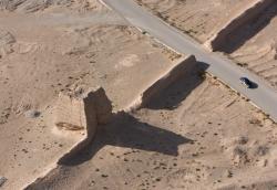 restes de la Grande Muraille près de Jiayuguan