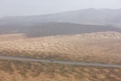 Route dans le désert près de Wuhai